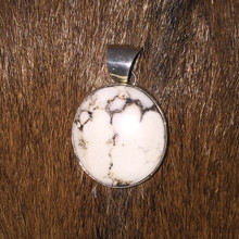 White Buffalo Pendant 0130