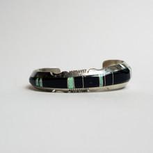 Black Onyx and Opal Inlay Cuff