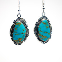 Blue Turquoise Earrings 130