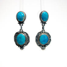 Blue Turquoise Earrings 159