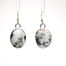 White Buffalo Stone Earrings 150
