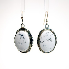 White Buffalo Stone Earrings 160