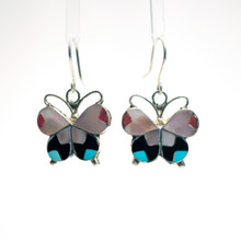 Multi Color Inlay Butterfly Earrings 60