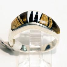Multi Color Inlay Calvin Begay Ring 165