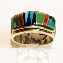 Multi Color Inlay CalvinBegay Ring 150