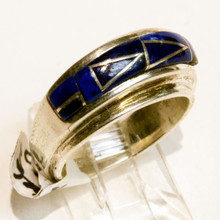 Lapis Inlay Calvin Begay Ring Sz 7