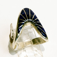 Lapis Inlay Calvin Begay Ring Sz 8