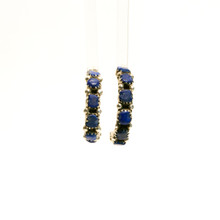Lapis Half Hoop Earrings