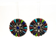 Multi Color Concha Post Earrings
