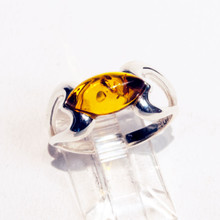 Heart Amber Ring