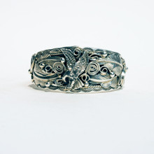 Eagle and Feather Sterling Silver Cuff 450