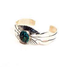 Blue Turquoise Sterling Silver Cuff 240