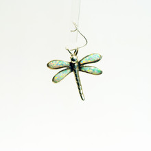 White Opal Dragonfly Pendant
