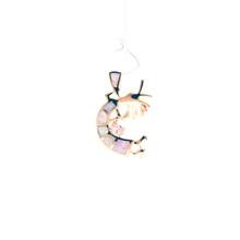 Pink Opal and Rose Gold Kokopelli Pendant