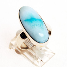 Larimar Oval Ring Sz 8