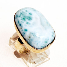 Larimar Sterling Silver Ring Sz 9