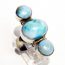 Larimar Sterling Silver Ring Sz 7
