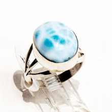 Larimar Sterling Silver Ring Sz7
