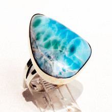 Larimar Sterling Silver Ring Sz 8