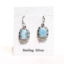 Larimar and CZ   Earrings