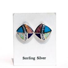 Multi Color Post Earrings