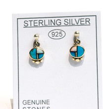 Turquoise and Opal Inlay Earrings