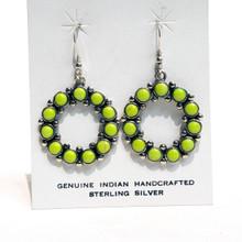Gaspeite Sterling Silver Earrings