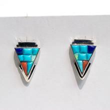 Inlay Turquoise Arrowhead Earrings