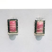 Rhodochrosite Post Earrings