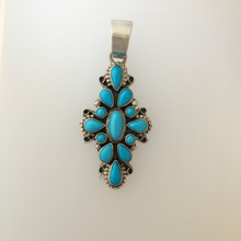 Sleeping Beauty Navajo Cluster Pendant