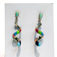 Multi Color Coiled Earrings