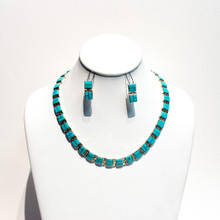 Billy Long Sleeping beauty Turquoise Inlay Collar Necklace Set