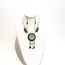 Sunface Necklace Set