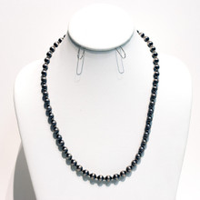 Satin Silver Navajo Pearls Necklace