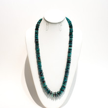 Turquoise Disk Bead Necklace