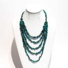 Multilayer Turquoise Bead Necklace