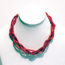 Coral Braided Necklace