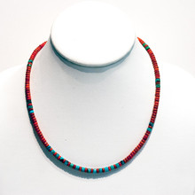 Spiny Oyster and Turquoise Bead Necklace