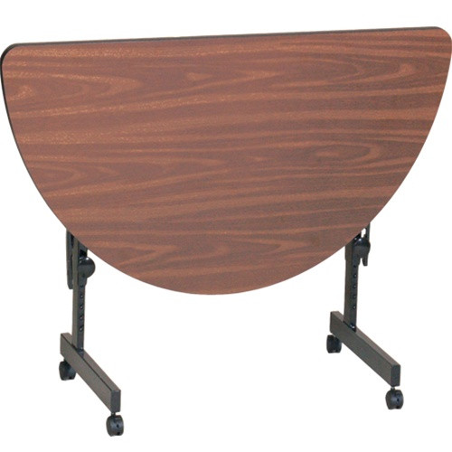 Correll Ft2448hr Heavy Duty Half Round Commercial Folding Table