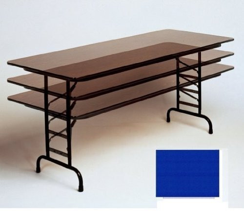 Correll Cfa60px Adjustable Height 75 Inch High Pressure Top Folding Table Walnut