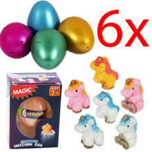6 X GROWING UNICORN EGG HATCHING KIDS TOY MAGIC FUN GIFT WATER GROW XMAS PET NEW
