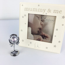 "Mummy & Me - beautiful  4 x 4"" frame with a rose flower"
