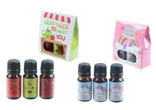 Pack of 6 - Set Of 3 Unicorn Fragrance Oils & Set of 3 Fruity Fragrance Oils