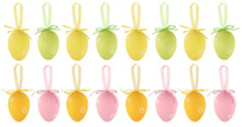 Pack of 16 Pastel Coloured Easter Eggs Hanging Children's Craft
