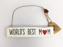 World's Best Mum Home Plaque Shabby Chic Vintage