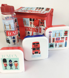 London Icons  Lunch Bag With Matching Lunch Box & Water Bottle