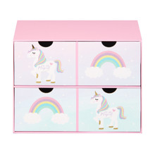WIDDOP & Co Unicorn Magic 2 Drawer Keepsake Box