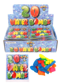 Coloured Water Bombs Water Balloons-300 (15 Packs)