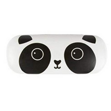 Sass and Belle  White  Panda Design  Glasses Case