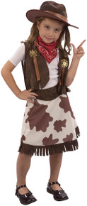 Cowgirl Toddler Fancy Dress Costume Age 3